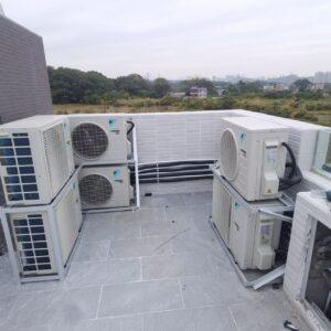 獨立村屋天台安裝分體冷氣